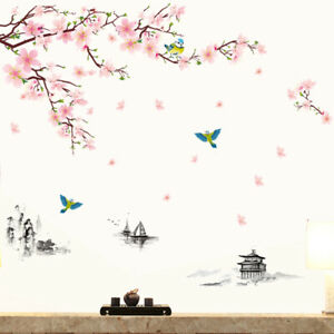 DIY-Spring-Flower-Tree-Bird-Wall-Sticker-Decal-Home-Living-Room-Bedroom-Decor-US