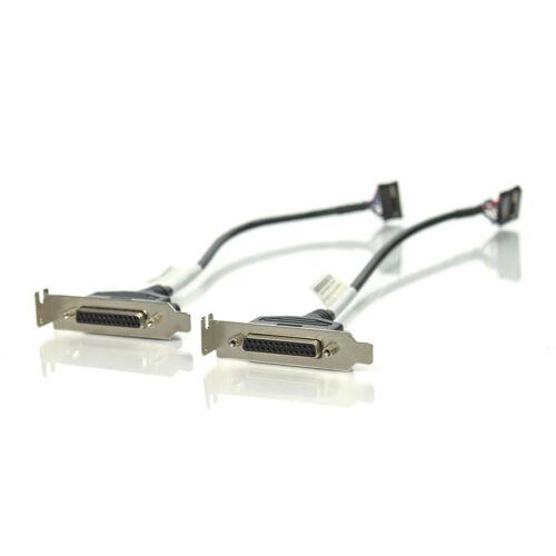 Lot of 2 HP Lenovo Luxshare Parallel Printer Port Low Pro 611900-001 45J9598