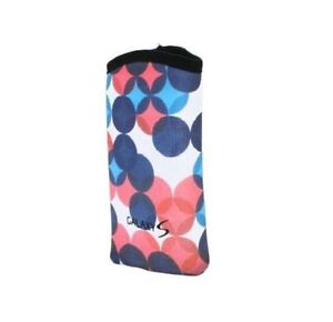 Neoprene-Reversible-Sleeve-Case-Pouch-w-Carabiner-for-Galaxy-S-White-Pink-Blue