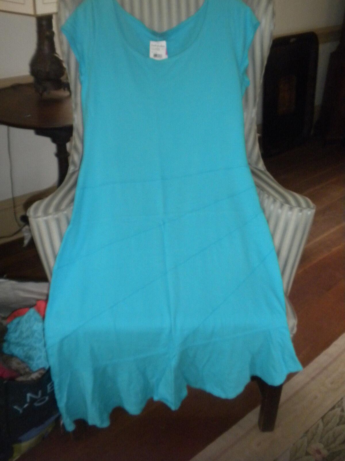 NWT    FRESH PRODUCE 100%  COTTON  FLATTERING   SUNBURST   STYLE  DRESS  (L M)