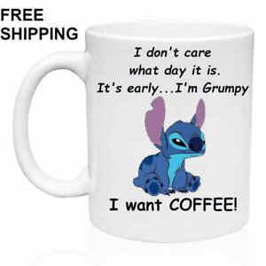 I-want-COFFEE-Lilo-amp-Stitch-Birthday-Christmas-Gift-White-Mug-11-oz-Coffee