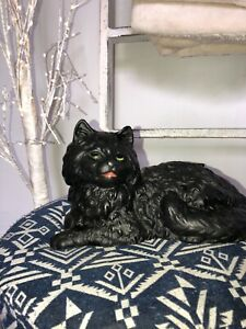 Vintage-Iron-Art-Cast-Iron-Black-Cat-Door-Stop
