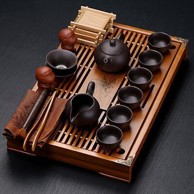 portable tea set for travel yixing zisha purple clay tea pot tea cups tea plates