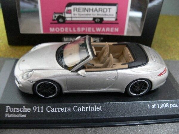 1 43 Minichamps PORSCHE 911 autoRERA Cabrio 2012 PLATINO argentoO 410 060231