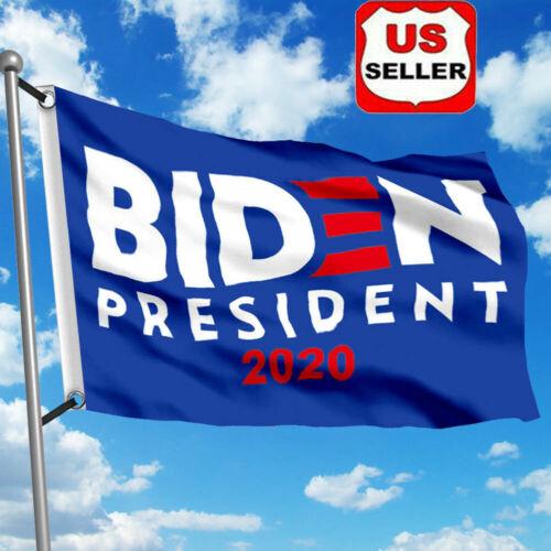 Details about  /2020 Joe Biden Flag Elect President Democratic 3/'x5/' Brass Grommets Navy Blue vi