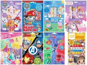 Children/'s Busy Packs Activity Stickers Colouring Peppa Spiderman Cars 3 Disney