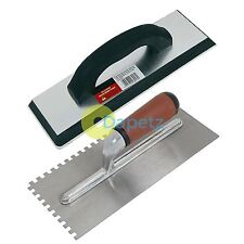 Tiling Tool Kit Grout Float & 6mm Notched Tile Adhesive Trowel Grouting Ceramic
