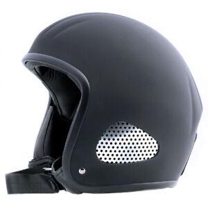 """Kulthelm Leder TITAN Jet-Helm Chopper Harley Open Face """"Leather Edition"""" in L"""