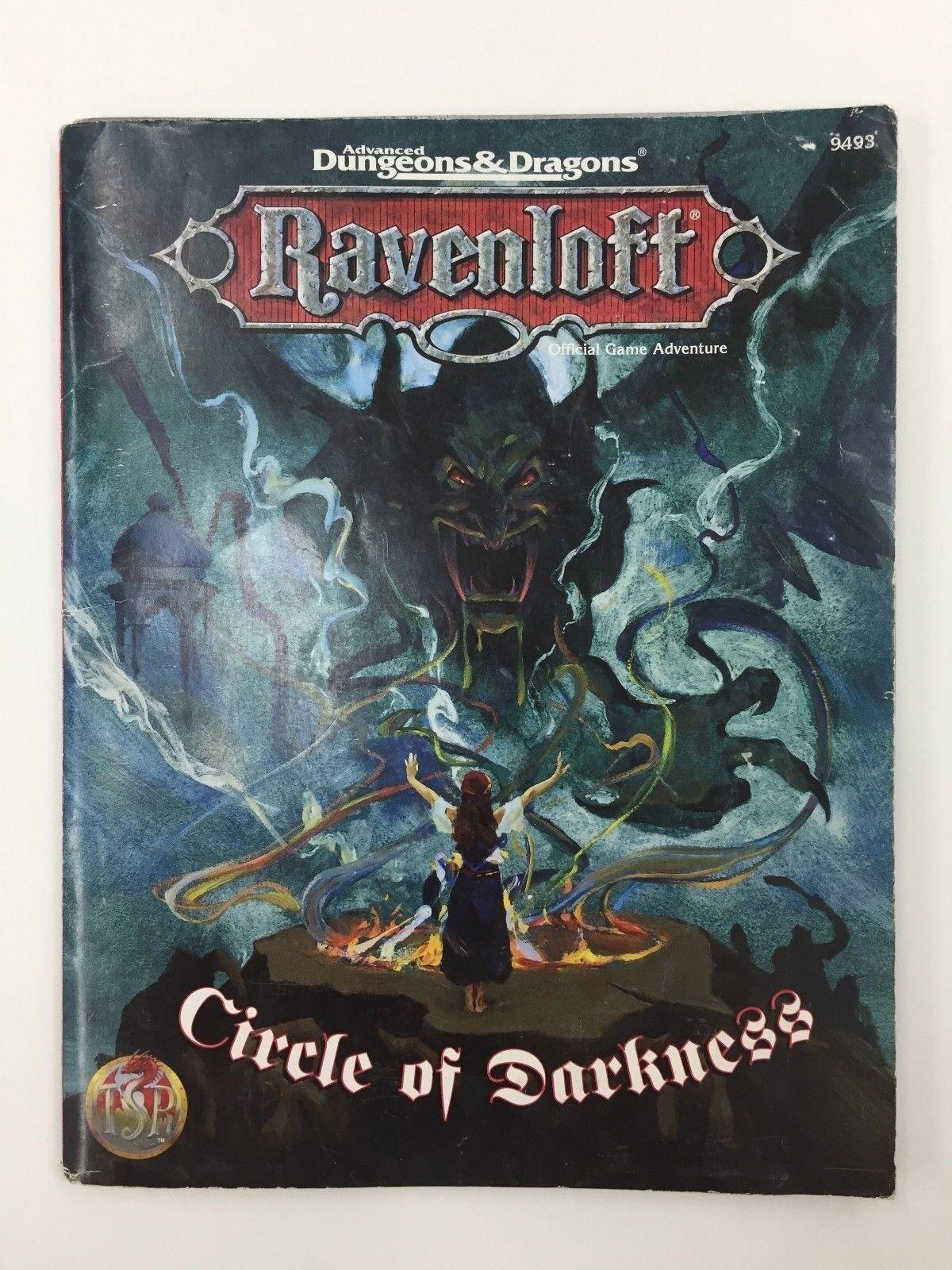 TSR ADVANCED DUNGEONS & DRAGONS RAVENLOFT CIRCLE OF DARKNESSS RPG D&D 9493