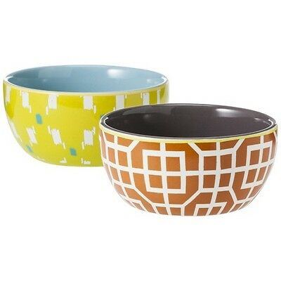 Threshold™ Patterned Ceramic Dip Bowls Set of 2 - Yellow/Blue and Red/Grey