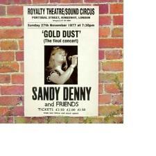 SANDY DENNY (FAIRPORT CONVENTION singer): Gold dust – Live at The Royalty REMAST