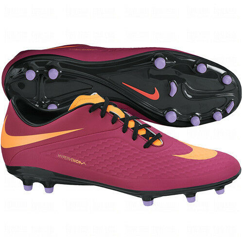 size 40 588df cf5ab Nike Womens HyperVenom FG Phelon 2014 Soccer SHOES New Plum / Purple /  Orange