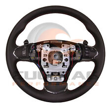 2005-2013 C6 Corvette Genuine GM Leather Automatic Steering Wheel Red Stitching