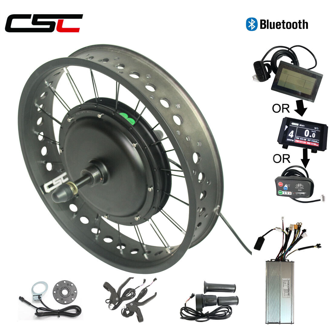 Ebike Fat Tire Motor Conversion Kit 26 750W AntiCharge Regeneration blutooth
