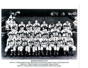 Image Is Loading 1952 BOSTON BRAVES ROOKIE MATHEWS TEAM 8X10 PHOTO