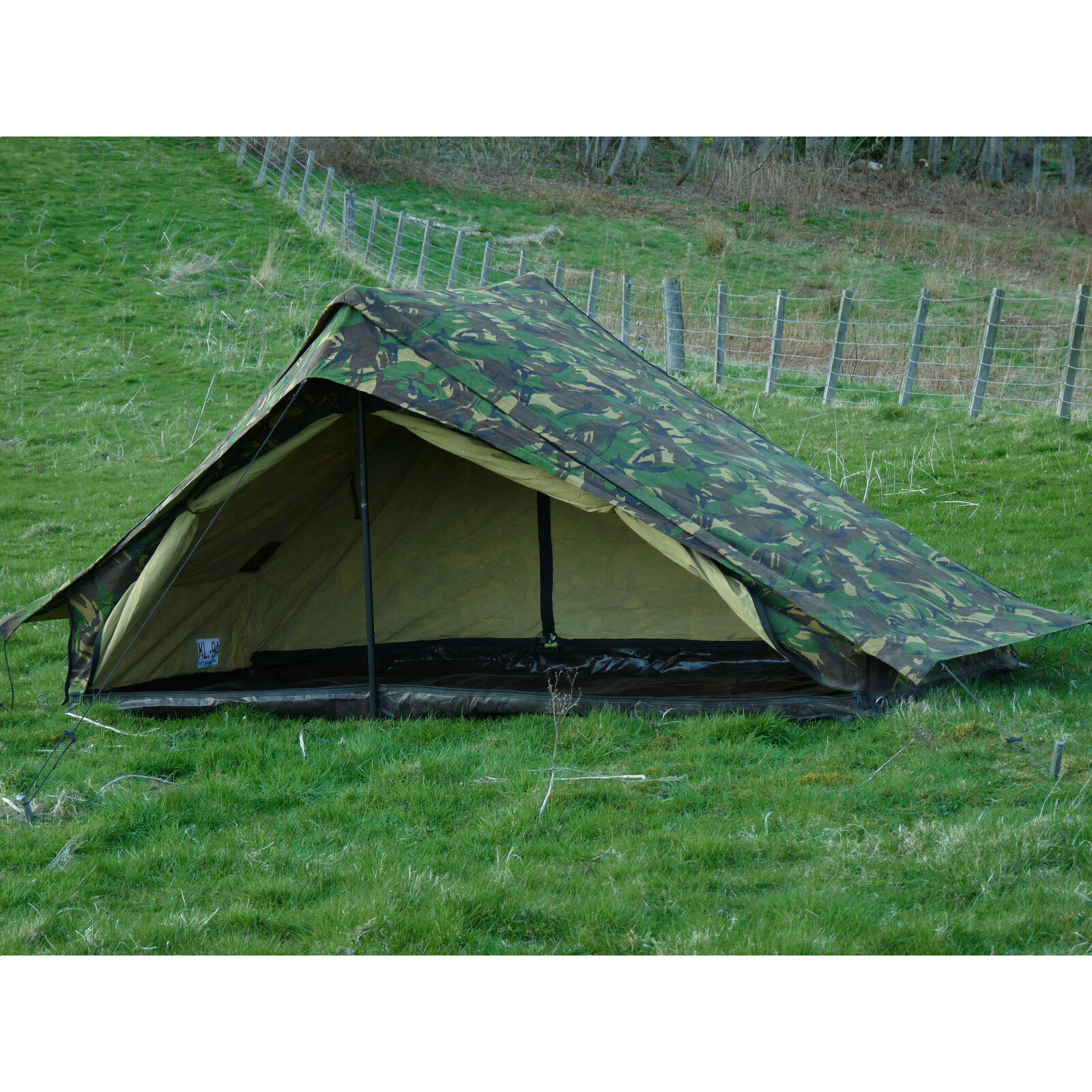 Dutch Army Canvas Tent - Woodland  Camouflage One Man Camo Pup 1 Person  store online