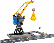 New LEGO City Heavy Haul Train Crane Loading Station from 60098 60052