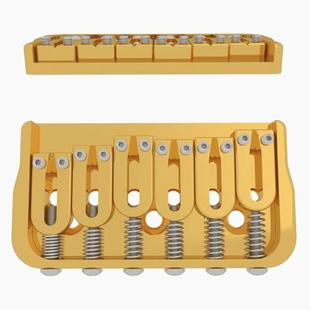 Hipshot 41060G 6-String Fixed Electric Guitar Bridge 0.125  Floor Height Gold