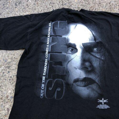 Vintage 1999 WCW Sting Big Face T Shirt Sz Large