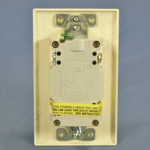 Cooper Almond GFCI Blank Dead Front Face 1.5 HP Motor Control Switch 20A VGFD20A