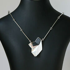 Danish silver pendant/chain made by N.E.From set with Black Onyx