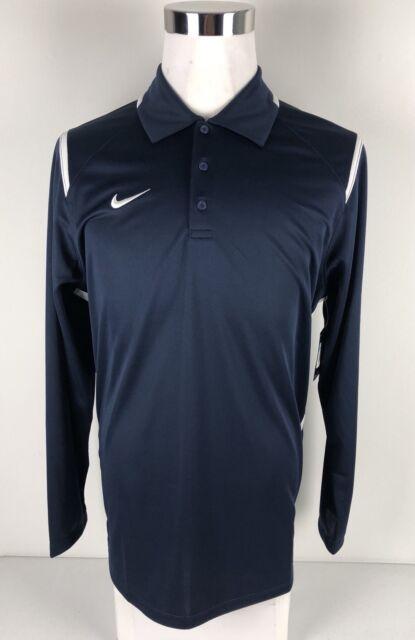 1a86f8452bb7 Nike Team Mens Medium Gameday Polo Shirt 706710 420 Navy for sale ...