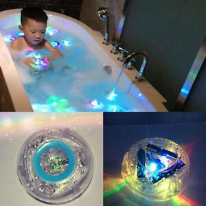 Waterproof Bathroom Tub LED Light RGB Colors Changing Kids Fun Toys In Bath Time