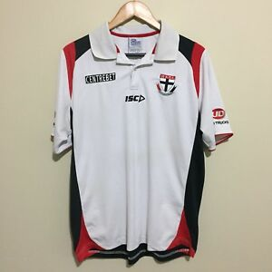 St-Kilda-Saints-ISC-2013-Official-AFL-Football-Polo-Shirt-White-Mens-Large