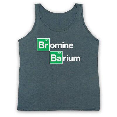 BARIUM BREAKING BAD T Shirt   Periodic Table Elements in BLACK Mens BROMINE