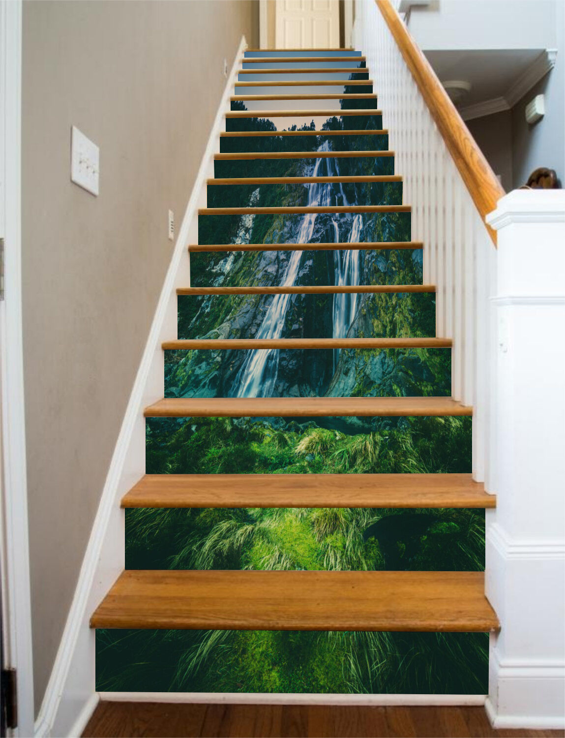 3D Waterfall 74 Stair Risers Decoration Photo Mural Vinyl Decal Wallpaper CA