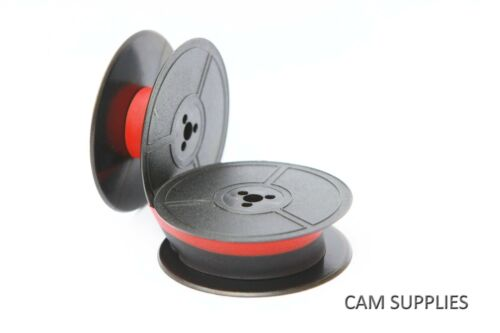Oliver PORTABLE 4 COURIER Typewriter Ribbon Twin Spool Red//Black or Plain Black
