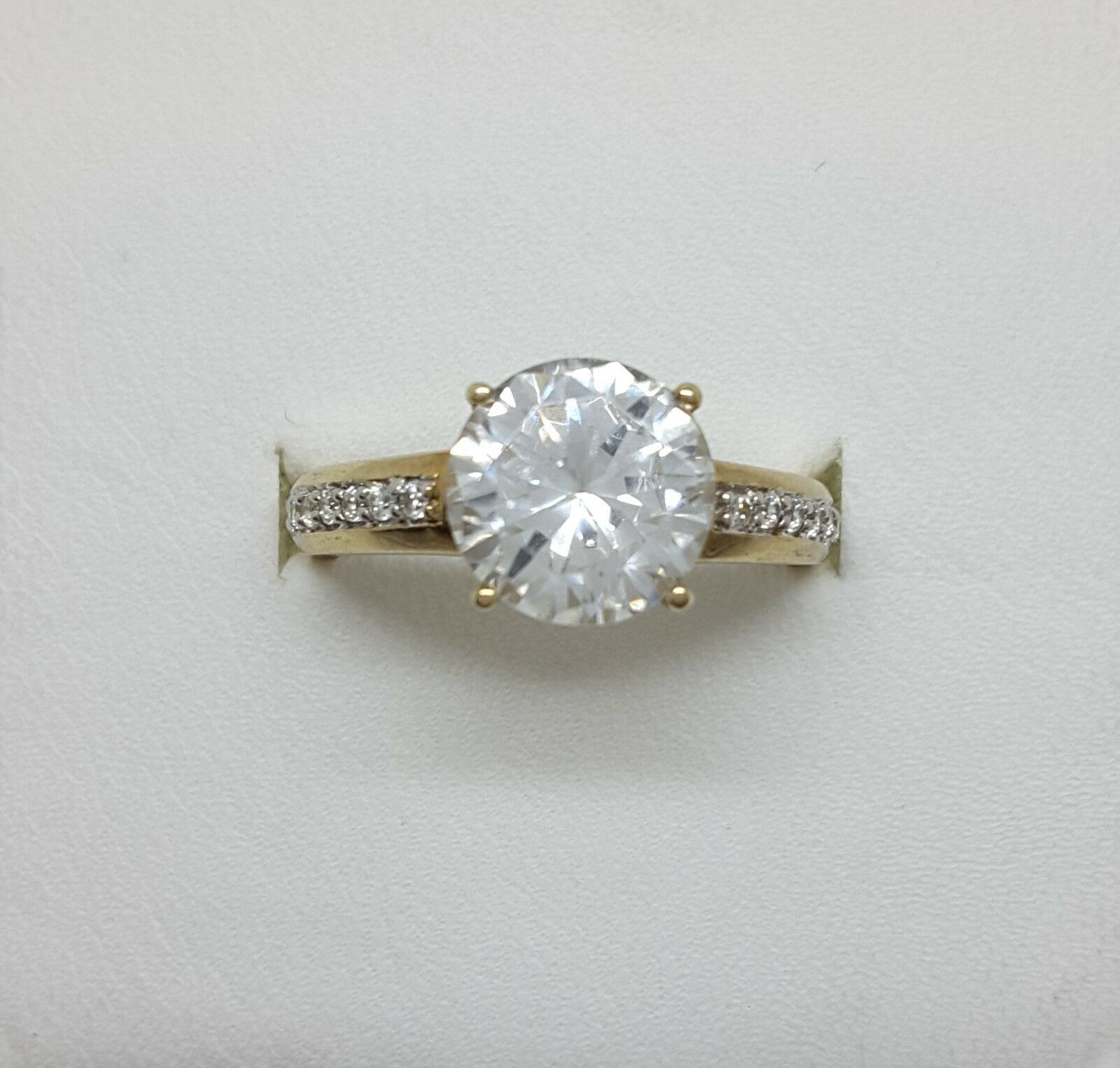 Miran 160556 9K Yellow gold Solitaire CZ Ring Size N 1 2 RRP  745
