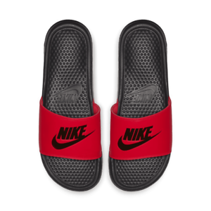 71e813e6962d New Nike Men JDI Slide 343880-605 Red   Black Slippers