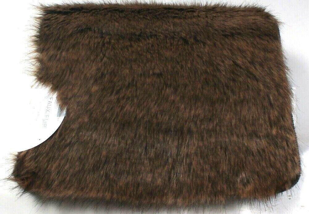 1 Count Batson Home 17 Inch X 24 Inch Faux Fur Soft Slip Resistant Bath Rug