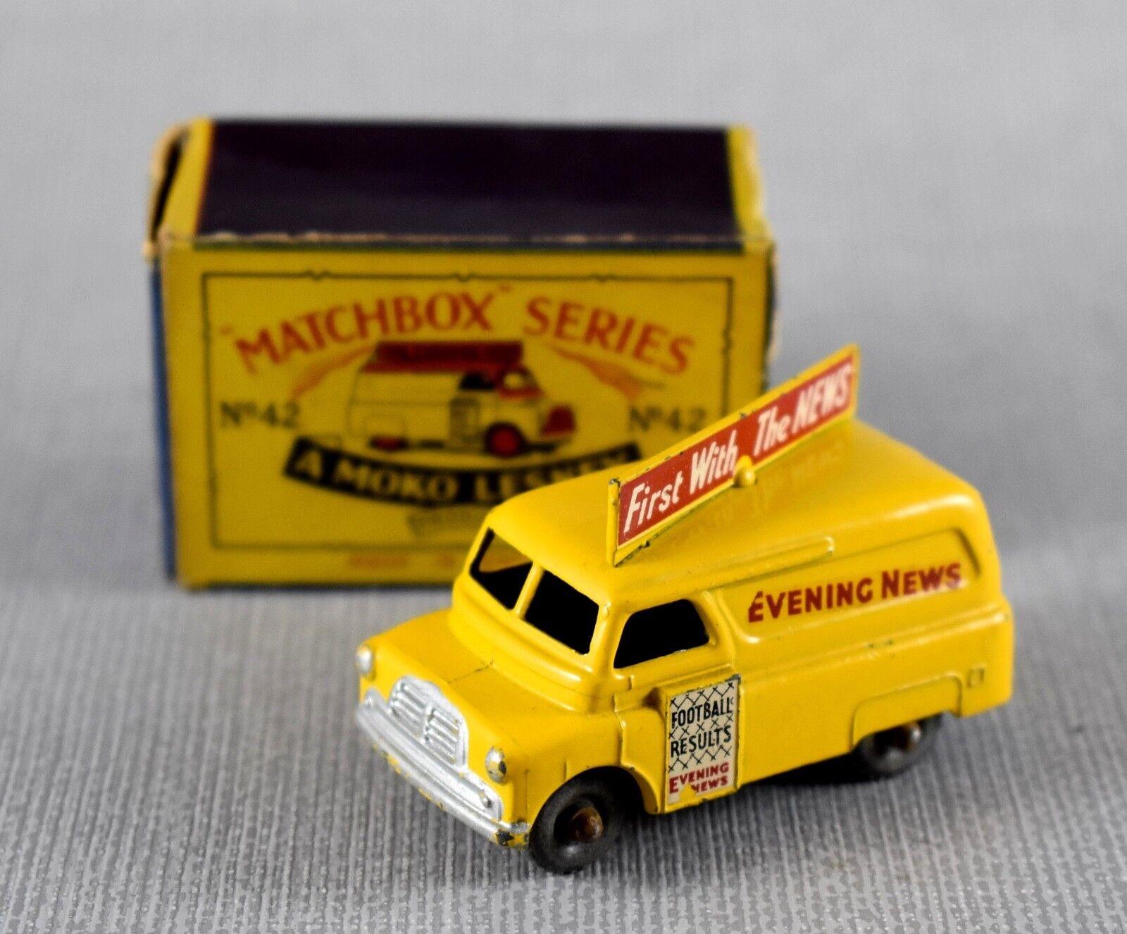 MATCHBOX 42a BEDFORD EVENING NEWS VAN (1957-1965)