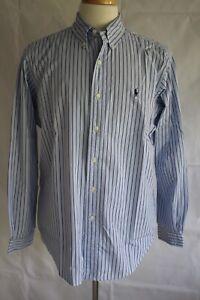 RALPH-LAUREN-Men-039-s-Long-Sleeve-Classic-Fit-Button-Down-Dress-Shirt-Size-L