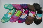 NWT CROCS ADRINA FLAT PEEP TOE BLACK ESPRESSO BROWN 6 7 8 9 10 flats shoes