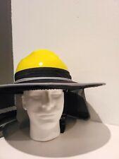Hard Hat Sun Shade Visor Full Brim Mesh Neck Hi Vis Reflective Stripe