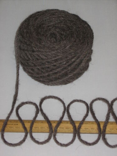 100g 100/% Natural Berber Rug Wool Knitting Yarn Thick Chunky Dark Brown Ref 9