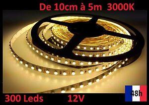 Ruban-Bandeau-Led-Strip-de-10cm-a-5m-300-Leds-12V-3000K-Livraison-48h-offerte