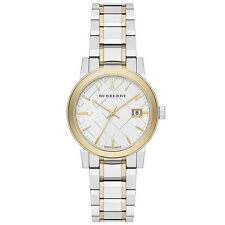 BU9115 Burberry Women's Swiss Two-Tone Stainless Steel Watch on SALE Authentic
