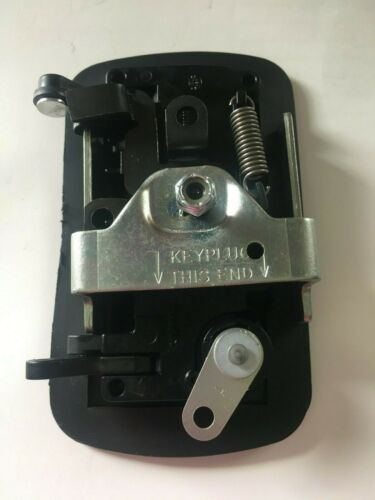 TriMark RV Door Lock 22660-04 Black Paddle Handle 2 Keys Utility Vehicles Van