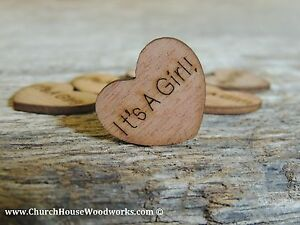 100-qty-1-034-It-039-s-A-Girl-Wood-Hearts-Table-Confetti-Wooden-Wedding-Decor