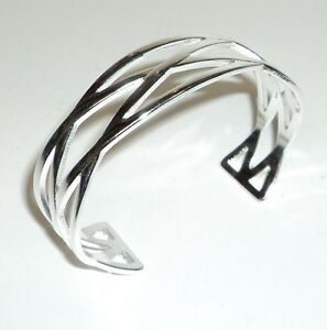 Cuff-Bracelet-Sterling-Silver-925-With-Drawstring-Pouch-NEW-001