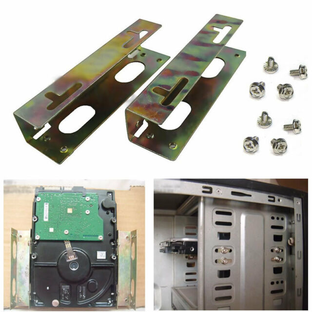 "New 3.5"" Hard Drive To 5.25"" Bay Mounting Bracket Adapter Kit W/Screws"