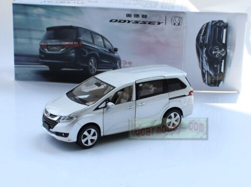 1//32 Honda Odyssey MPV Silver pull back car Toy Metal Diecast Sound/&Light