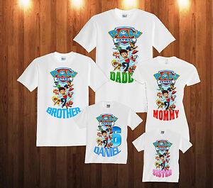 Personalized Custom Paw Patrol Birthday T Shirt Family Party