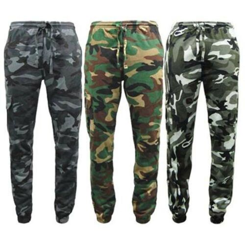 ek GAME HEAVYWEIGHT 300gsm COTTON//POLYESTER CAMOUFLAGE TRACKSUIT JOGGERS S-5XL