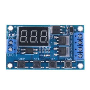 LED-DC-5V-36V-Dual-MOS-Control-Cycle-Trigger-Timer-Delay-Relay-Module-Switch-YU