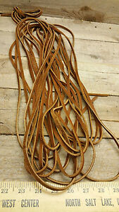 oil tan cow / american / soft leather lace 3/16 wide 35 ft saddle tan color